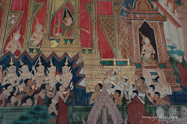 peinture murale thaïe