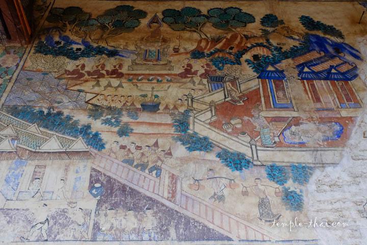 Peintures temple Thaïlande
