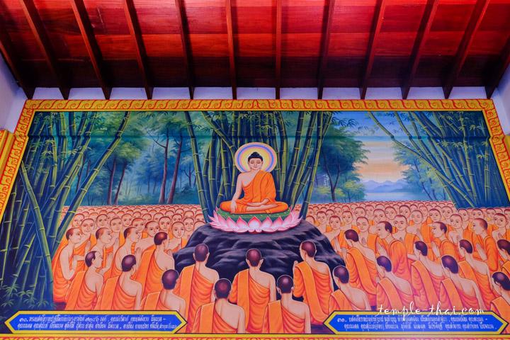 Peinture sur la vie du Bouddha