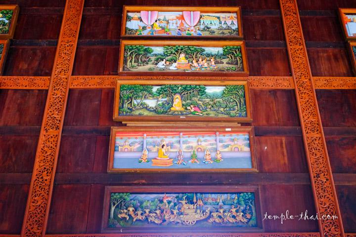 tableaux sur la vie du Bouddha