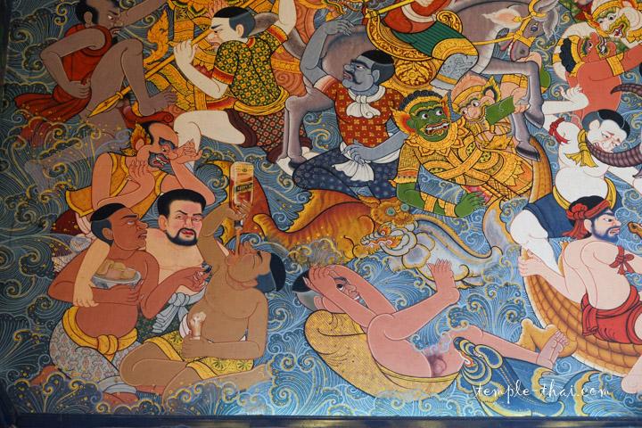 Peinture murale Bangkok