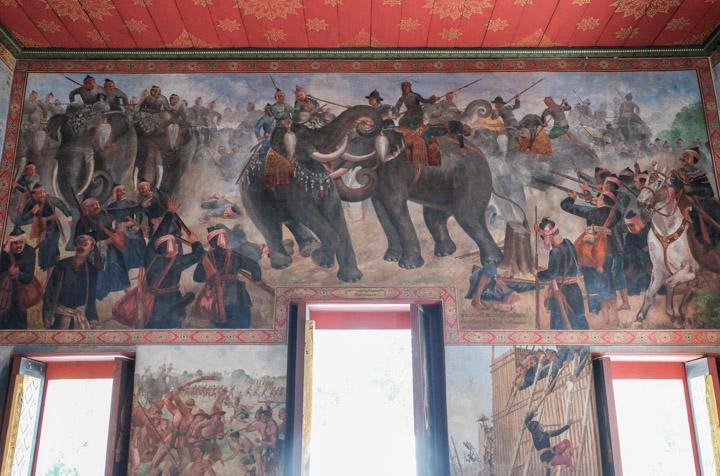 Bataille éléphant