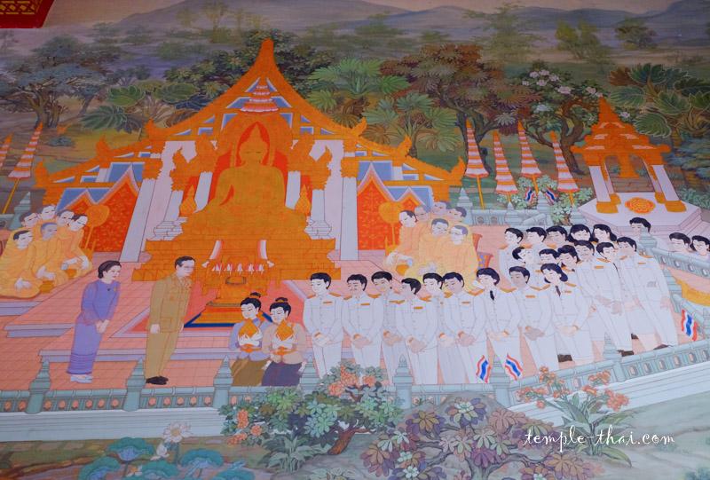 Peinture Roi Thaïlande